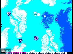 In-game screen of the game Global Defense on Sega Master System