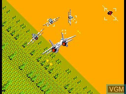 In-game screen of the game After Burner on Sega Master System