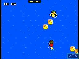 In-game screen of the game Alex Kidd - BMX Trial on Sega Master System