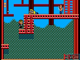 In-game screen of the game Alex Kidd in Shinobi World on Sega Master System