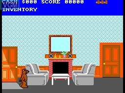 In-game screen of the game ALF on Sega Master System