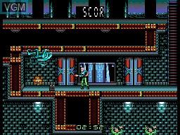 In-game screen of the game Alien 3 on Sega Master System