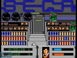 In-game screen of the game Alien Storm on Sega Master System