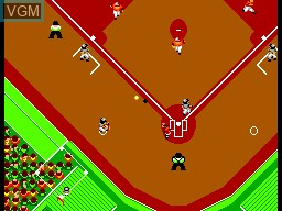In-game screen of the game American Baseball on Sega Master System