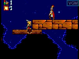 In-game screen of the game Asterix and the Great Rescue on Sega Master System