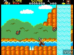 In-game screen of the game Asterix and the Secret Mission on Sega Master System