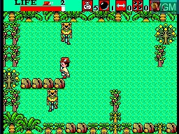 In-game screen of the game Aztec Adventure - The Golden Road to Paradise on Sega Master System
