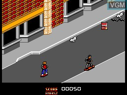 In-game screen of the game Back to the Future Part II on Sega Master System