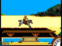 In-game screen of the game Back to the Future Part III on Sega Master System