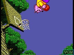 In-game screen of the game Basket Ball Nightmare on Sega Master System
