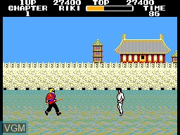 In-game screen of the game Black Belt on Sega Master System
