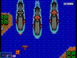 In-game screen of the game Bomber Raid on Sega Master System