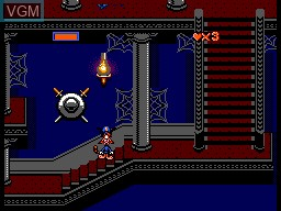 In-game screen of the game Bonkers Wax Up! on Sega Master System