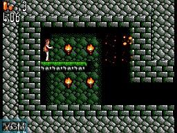 In-game screen of the game Bram Stoker's Dracula on Sega Master System