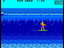 In-game screen of the game California Games on Sega Master System