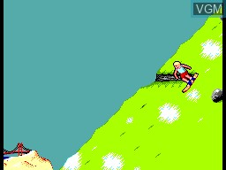 In-game screen of the game California Games II on Sega Master System