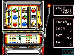 In-game screen of the game Casino Games on Sega Master System