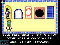 In-game screen of the game Castelo Ra Tin Bum on Sega Master System