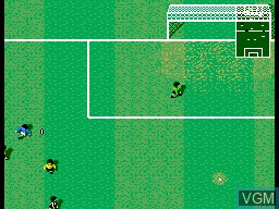 In-game screen of the game Champions of Europe on Sega Master System