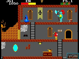 In-game screen of the game Chapolim x Dracula - Um Duelo Assustador on Sega Master System