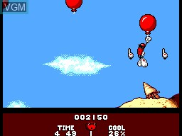 In-game screen of the game Cool Spot on Sega Master System