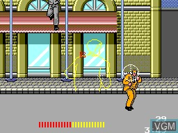 In-game screen of the game Dead Angle on Sega Master System