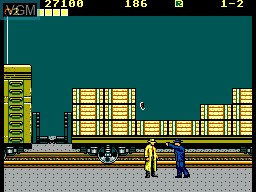 In-game screen of the game Dick Tracy on Sega Master System