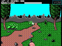 In-game screen of the game Double Hawk on Sega Master System