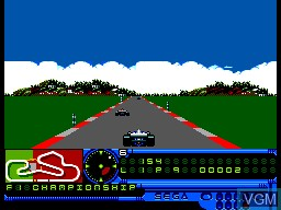 In-game screen of the game F1 Championship on Sega Master System