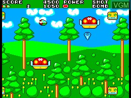 In-game screen of the game Fantasy Zone II - The Tears of Opa-Opa on Sega Master System