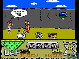 In-game screen of the game Flintstones, The on Sega Master System