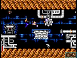 In-game screen of the game Forgotten Worlds on Sega Master System