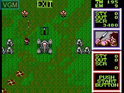 In-game screen of the game Gain Ground on Sega Master System