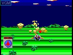 In-game screen of the game Galaxy Force on Sega Master System