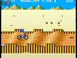 In-game screen of the game Game Box Esportes Radicais on Sega Master System