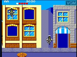 In-game screen of the game Gangster Town on Sega Master System