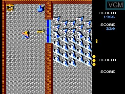 In-game screen of the game Gauntlet on Sega Master System