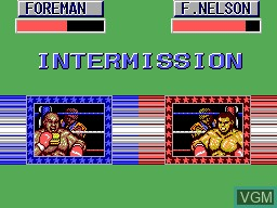 In-game screen of the game George Foreman's KO Boxing on Sega Master System