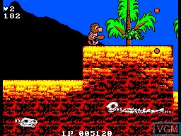In-game screen of the game Dinobasher - Starring Bignose the Caveman on Sega Master System