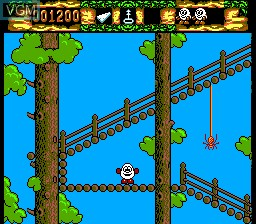 In-game screen of the game Fantastic Dizzy on Sega Master System