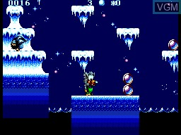In-game screen of the game Fire & Ice on Sega Master System