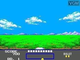 In-game screen of the game Marksman Shooting - Trap Shooting on Sega Master System