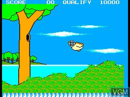 In-game screen of the game Hang-On & Safari Hunt on Sega Master System