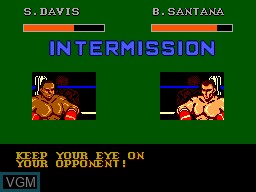 In-game screen of the game Heavyweight Champ on Sega Master System