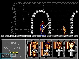 In-game screen of the game Heroes of the Lance on Sega Master System