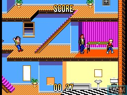 In-game screen of the game Home Alone on Sega Master System