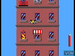 In-game screen of the game Incredible Crash Dummies, The on Sega Master System