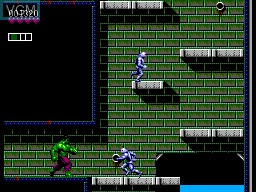 In-game screen of the game Incredible Hulk, The on Sega Master System