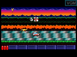 In-game screen of the game Jurassic Park on Sega Master System