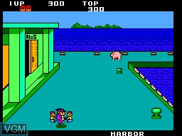 In-game screen of the game Machine Gun Joe on Sega Master System